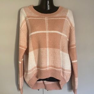 Pre Owned Dotti Knit Jumper Size Medium Check EC